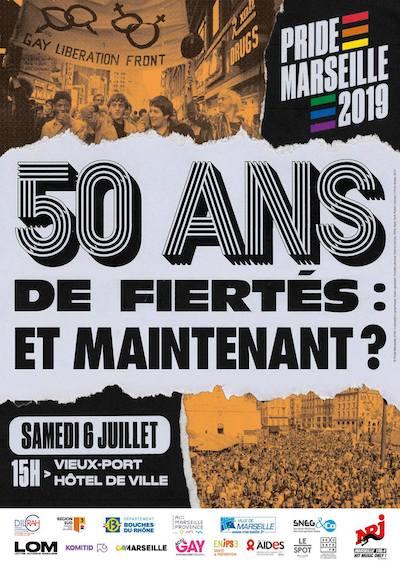 affiche Pride Marseille 2019