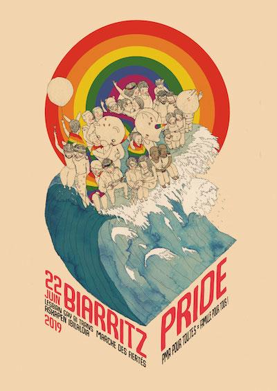 affiche Biarritz Pride 2019