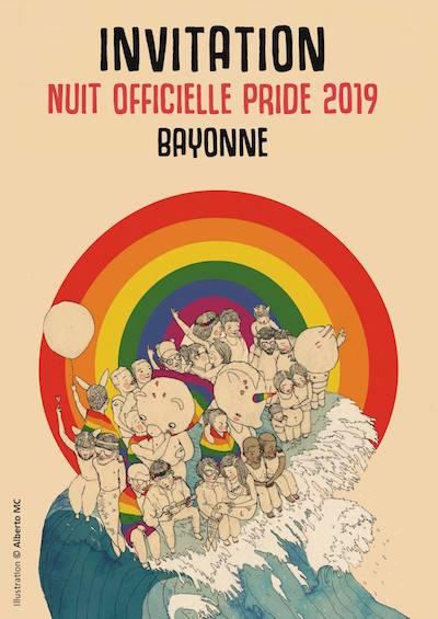 affiche soirée officielle Pride Biarritz 2019
