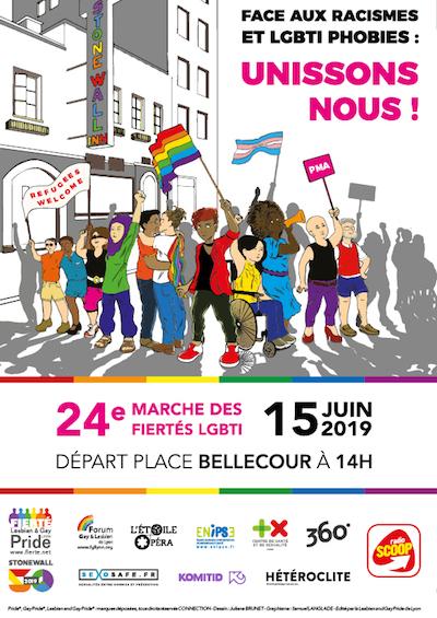 Marche des Fierté LGBT de Lyon 2019