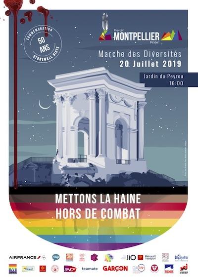 affiche Marche des Diversités Montpellier 2019
