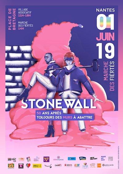 affiche Marche des Fiertés Nantes 2019