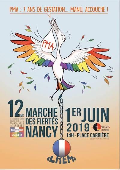 affiche Marche des Fiertés Nancy 2019