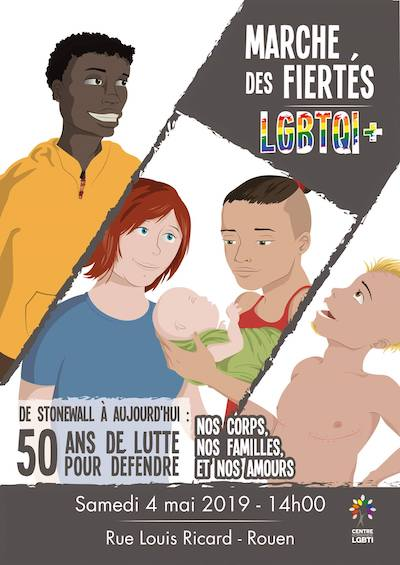 Marche des Fiertés Rouen 2019