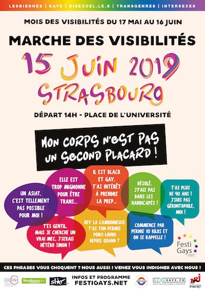 affiche Marche des Visibilités Strasbourg 15 juin 2019