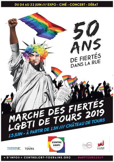 affiche Marche des Fiertés Tours 2019