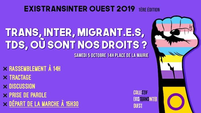 affiche ExistransInter Ouest le 5/10 à Rennes