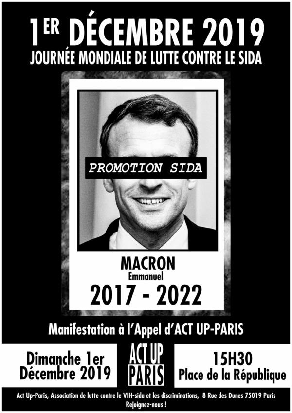 manifestation pour le 1er décembre à l'appel d'Act Up-Paris